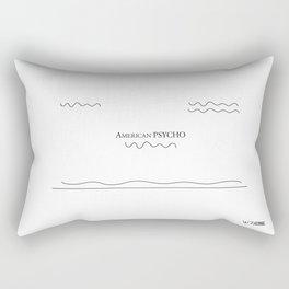 American Psycho, by Will Zurmann Rectangular Pillow