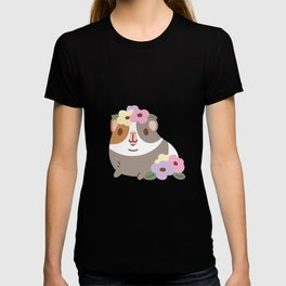 Guinea pig and flowers T-shirt