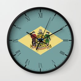 Flag of Delaware Wall Clock