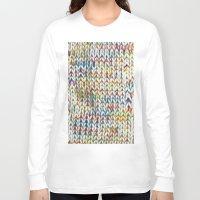 knit Long Sleeve T-shirts featuring Knit Pattern  by Manuela Mishkova