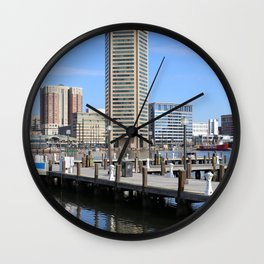 Baltimore's Inner Harbor and World Trade Center Wall Clock