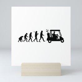 Evolution - golf  black&white Mini Art Print