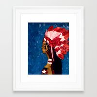 native american Framed Art Prints featuring Native American by Ksuhappy