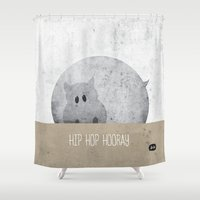 hip hop Shower Curtains featuring Hip Hop Hooray by Lee Walsh