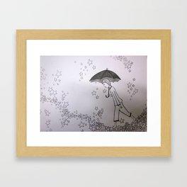 Walking on Stars Framed Art Print