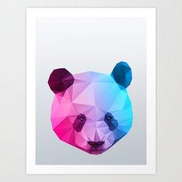 Polygon Panda Bear Art Print