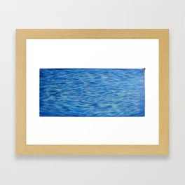 Water Meditation Diamond Wave Pattern Framed Art Print