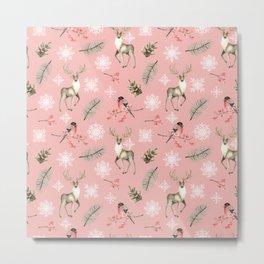 Xmas Pattern Pink #socieyt6 #buyart Metal Print