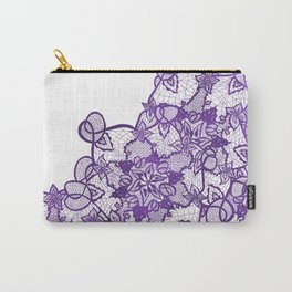 Modern lavender purple watercolor floral lace illustration Carry-All Pouch