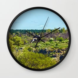 House on the island Wall Clock