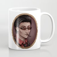 crowley Mugs featuring Crowley (white) by Abbi Laura