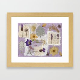 Lavender Collage Framed Art Print