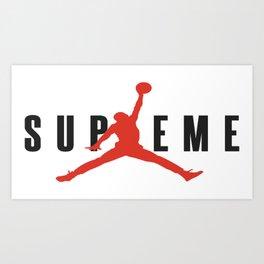 supreme jump Art Print