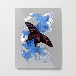 Butterfly II ink by carographic, Carolyn Mielke Metal Print