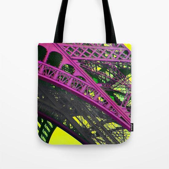 purple paris Tote Bag