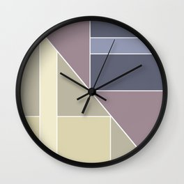 Simple geometric pattern. Wall Clock