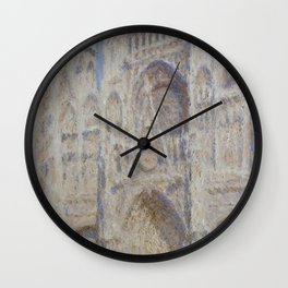 "Claude Monet ""Rouen Cathedral The Portal (Sunlight)"" Wall Clock"