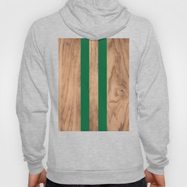 Wood Grain Stripes - Green #319 Hoody