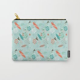 Surfs Up Blue Carry-All Pouch
