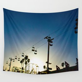 Sunset at the Boardwalk Wall Tapestry