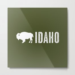 Bison: Idaho Metal Print