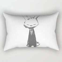 minima - beta bunny pose Rectangular Pillow