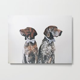 The Pointer Brothers in bowties Metal Print