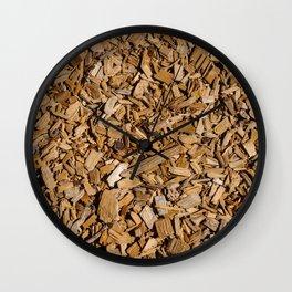 Wood Chips ! Wall Clock