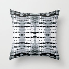 BW Satin Shibori Throw Pillow