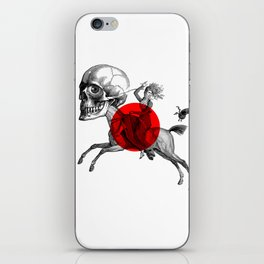 Love is a mad horse iPhone Skin