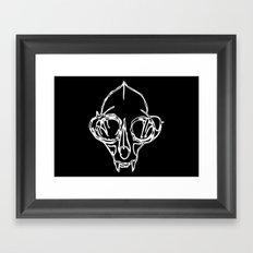Madam Salami Cat Skull Framed Art Print