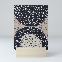 Terrazzo in semi circle Mini Art Print