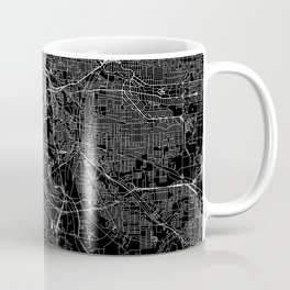Cleveland Black Map Coffee Mug