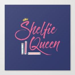 Booklover Shelfie Queen Canvas Print