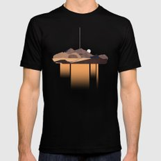 desert and trails Black Mens Fitted Tee MEDIUM