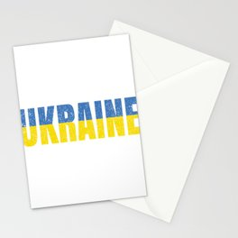 Ukrainian National Flag Vintage Ukraine Country Gift Stationery Cards