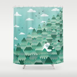 Tree Hugger (Spring & Summer version) Shower Curtain