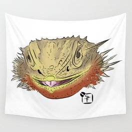 Bearded Dragon Face Wall Tapestry