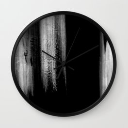 Black And White Bokeh Stripes Brush Strokes - Gothic Glam - Abstract - Corbin Henry Wall Clock