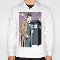 david tennant Hoodies featuring Doctor Who - David Tennant by Averagejoeart
