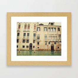 Venice Waterways Framed Art Print