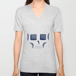 Skull Linework (Dark Blue / Gray) Unisex V-Neck