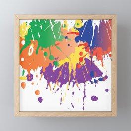 Colourful Paint splash Framed Mini Art Print