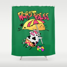 Roast Beef Dustin Cow On Sun Shower Curtain