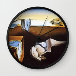 The Persistence Of Memory Painting By Salvador Dali Wall Clock