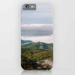 View of the Valley of Sacco - Italian hilltop towns in a morning clouds - Fine art travel landscape photography iPhone Case