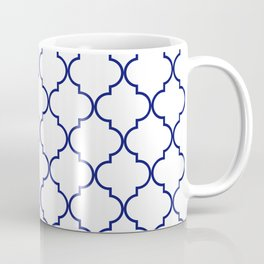 quatrefoil - navy Coffee Mug