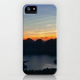 Sunrise at Rinjani iPhone Case