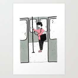 Moments in New York: NYC Subway Dogs Art Print