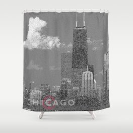 Chicago Lakefront - Grey Shower Curtain